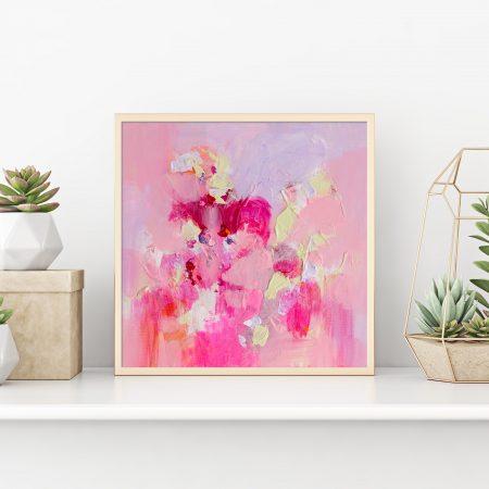Original pink artwork