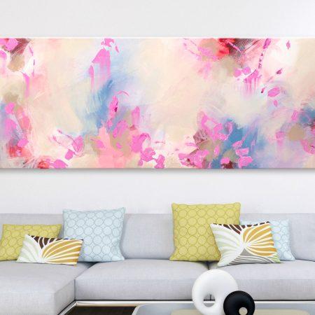 Canvas art pink
