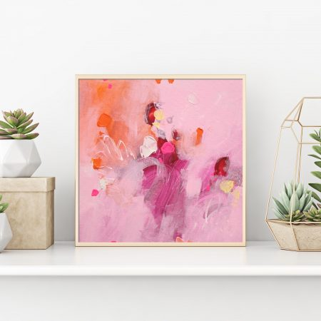 Small pink abstract art
