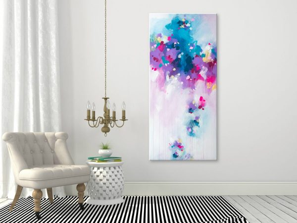 large abstract art on canvas