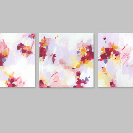 3 PANEL ABSTRACT ART