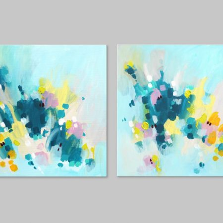 abstract diptych