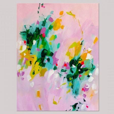 Pink artwork on paper