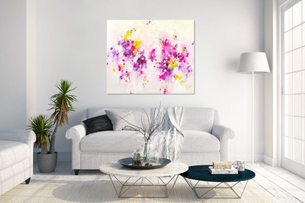 pink abstract canvas art