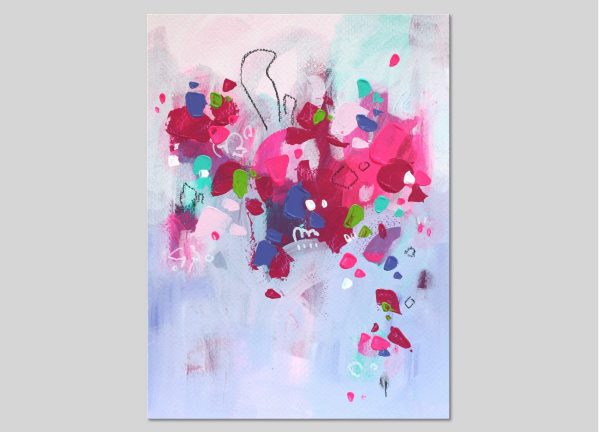 Abstract painting on paper