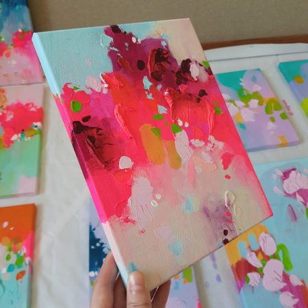 Small abstract painting on canvas