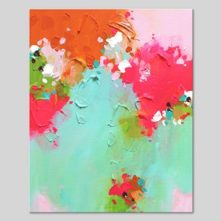 Small abstract art on canvas