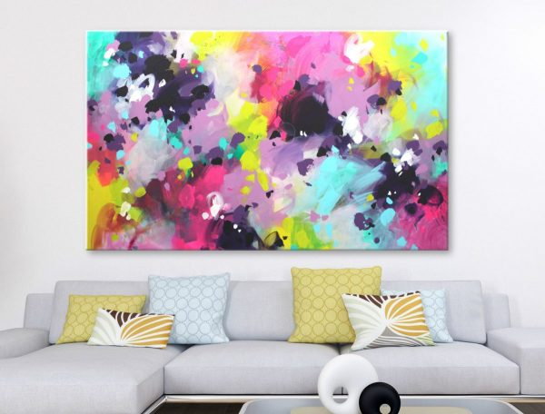 Colorful abstract art on canvas