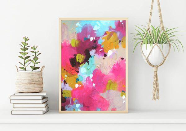 Pink abstract art